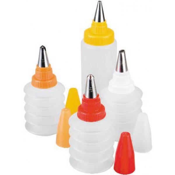 Set 4 flacons à décoration