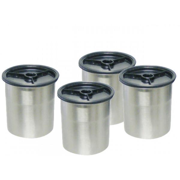 lot de 4 bols inox + couvercle ROZER