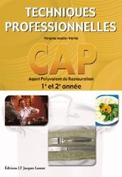 Techniques professionnelles cap agent polyvalent de for Referentiel cap cuisine