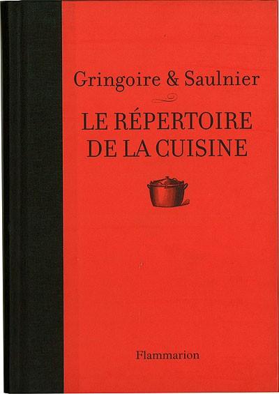Le repertoire de la cuisine flammarion for Repertoire de la cuisine