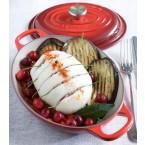 Assiette chaude ovale à couvercle