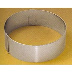 Cercle extensible inox ø  20-30 cm h 5
