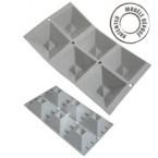 Elastomoule - 6 pyramides inversées