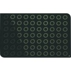 Plaque macarons silicone pro 70 empreintes 58 cm