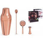 Set shaker cuivre 4 pièces