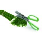 Ciseaux à 5 lames en acier inoxydable trempées et polies. Pour ciseler les fines herbes de façon régulière.