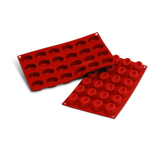 Siliconeflex 24 savarins ovales 4,4cm
