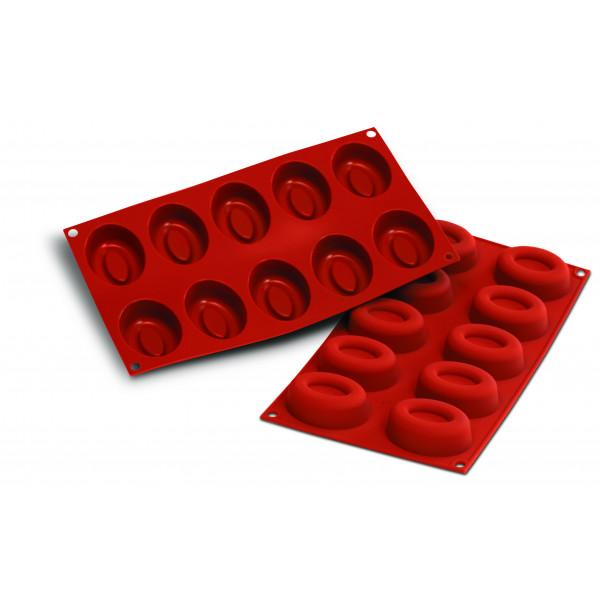 Siliconeflex 10 savarins ovales 7cm