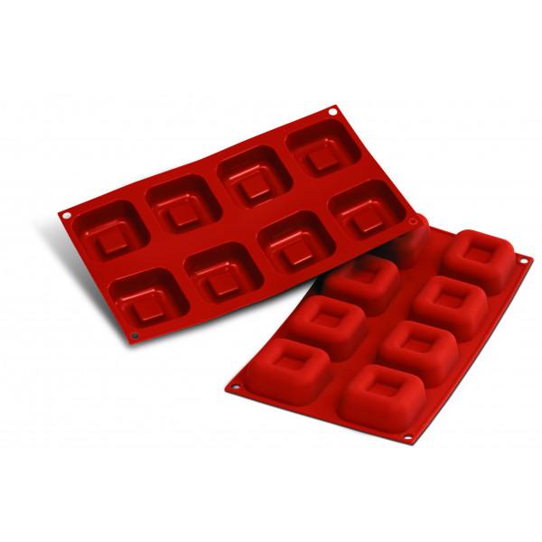 Siliconeflex 8 savarins carres 6,5 cm