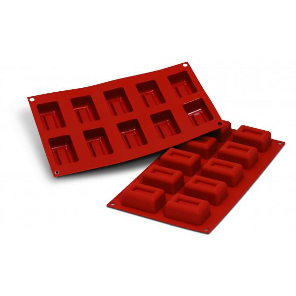 Siliconeflex 10 savarins rectangulaires 6,07 cm
