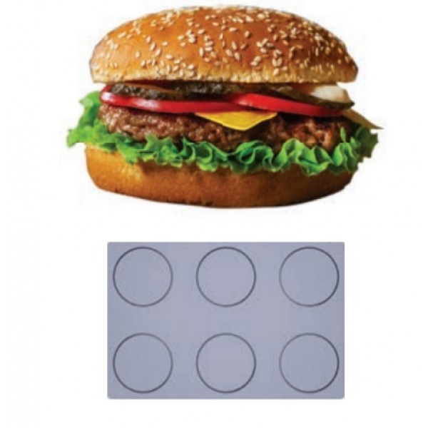 Toile Fibermae 6 hamburgers (