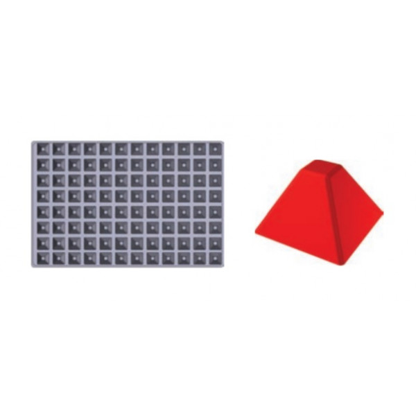 Plaque SiliPremium 60x40 96 mini pyramides
