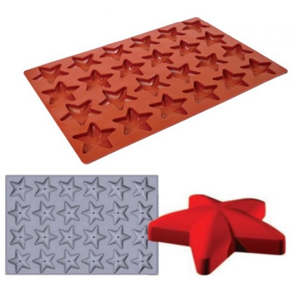 Plaque SiliPremium 60x40 24 étoiles