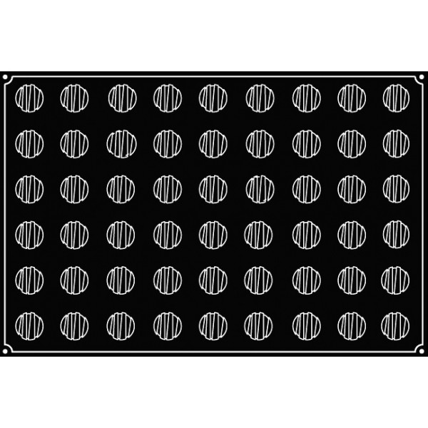 Pavoflex 54 mini ronds rayes 3,5 cm