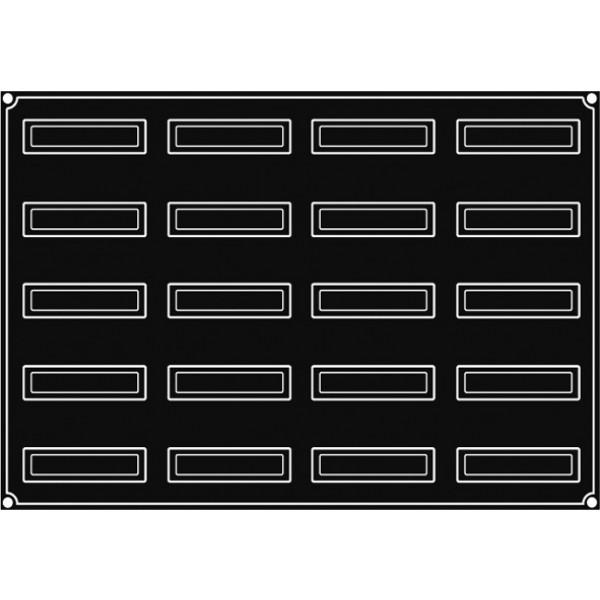 Pavoflex 20 bandes inclinées 12 cm