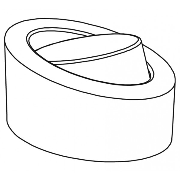 Pavoflex 24 ovales inclines 7,2 cm