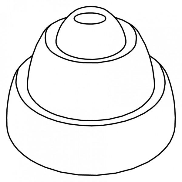 Pavoflex 24 cônes anneaux 7 cm