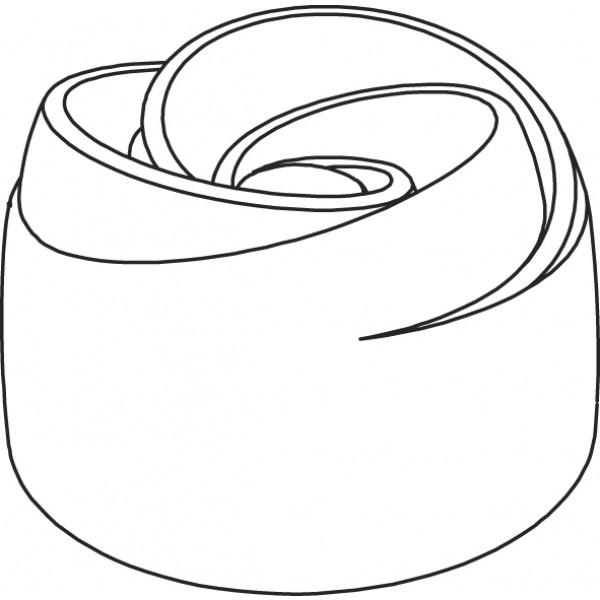 Pavoflex 24 boutons de rose 7 cm