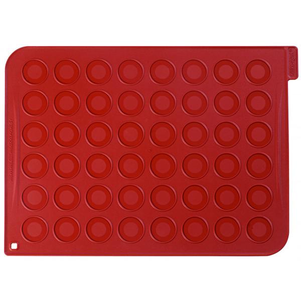Plaque macarons silicone 48 empreintes 40 cm