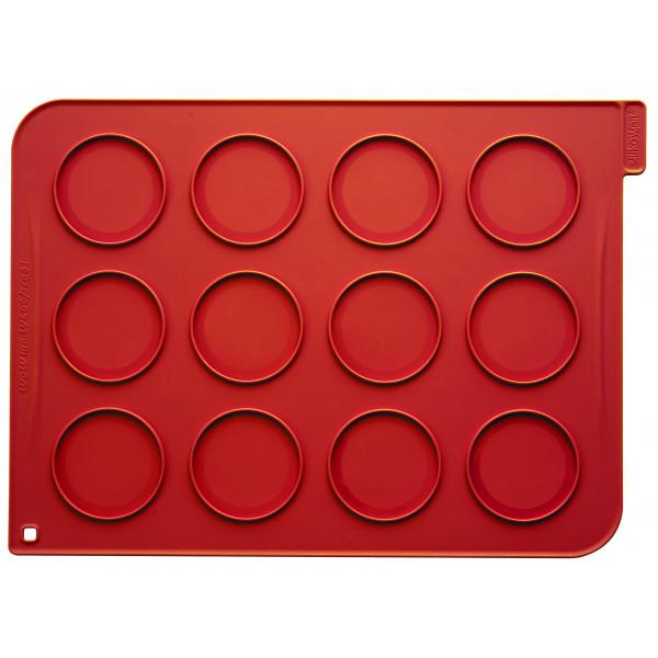 Plaque macarons silicone 12 empreintes 40 cm
