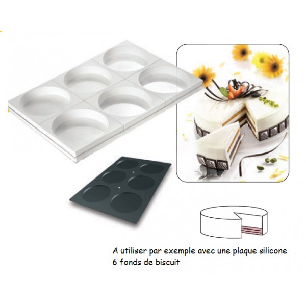 Tortaflex 6 empreintes 18cm