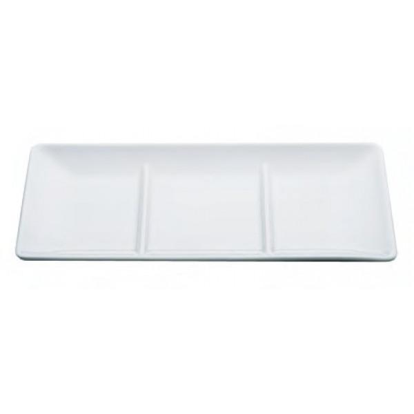 Zen - Plat rectangle 3 compartiments