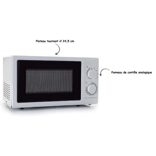Four micro-ondes 20L blanc