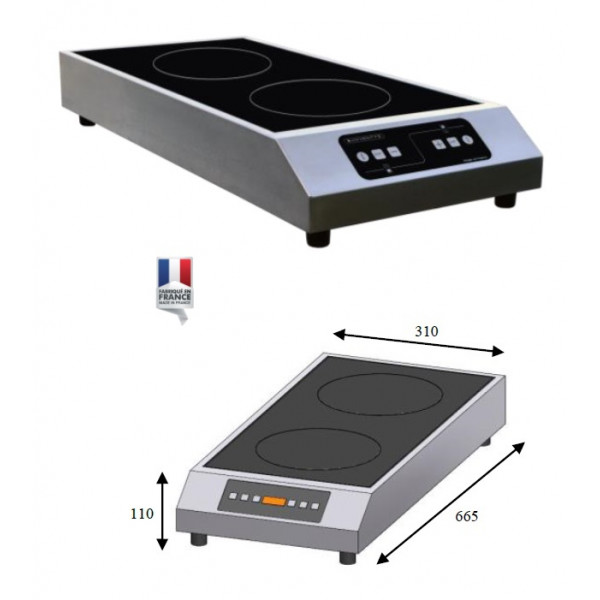 Plaque induction DOUBLE H/B 3500W