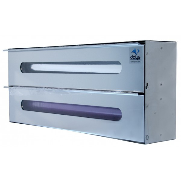 Dérouleur inox Double pour rouleau de film et aluminium
