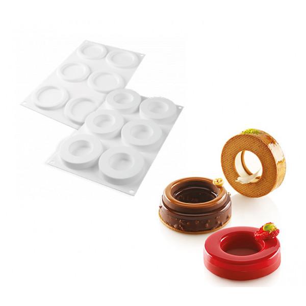 Silikomart - Kit moule 6 anneaux ring