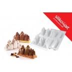 """Silikomart - Plaque 6 montagnes """"tre cime"""""""