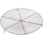 Grille ronde a pieds inox