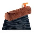 Tapis décor faux bois