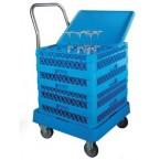 Chariot à casiers à verres