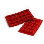Siliconeflex 15 savarins carres 4,8 cm