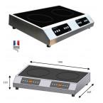 Plaque induction DOUBLE G/D 3500W