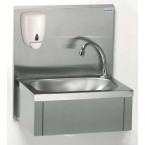 Lave-main cuve rectangulaire avec dosseret + savon