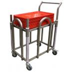 chariot inox à niveau constant 60x40cm