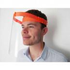 Visière de protection orange anti coronavirus protection contre convid19