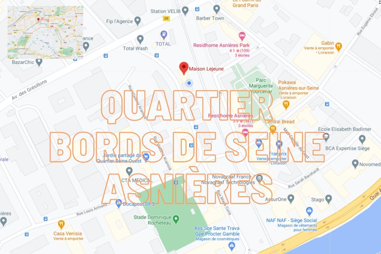 Quartiers Bords de Seine Asnières sur Seine